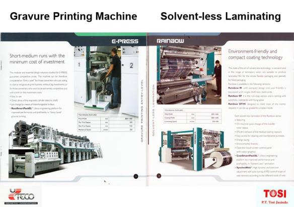 Gravure printing machine 1