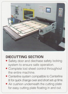 Die cutting section