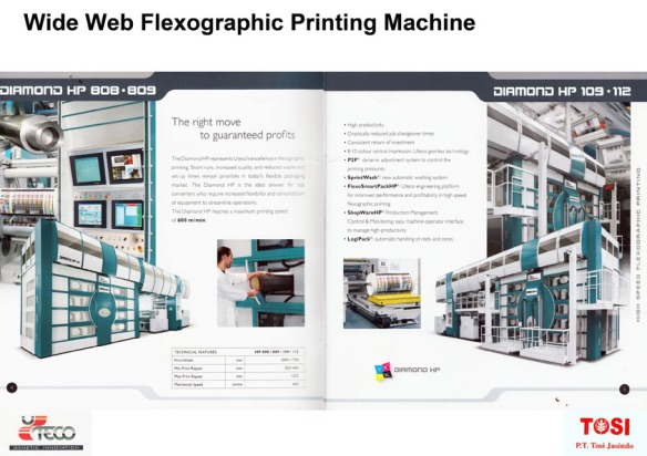 Wide web flexographic printing machine 1